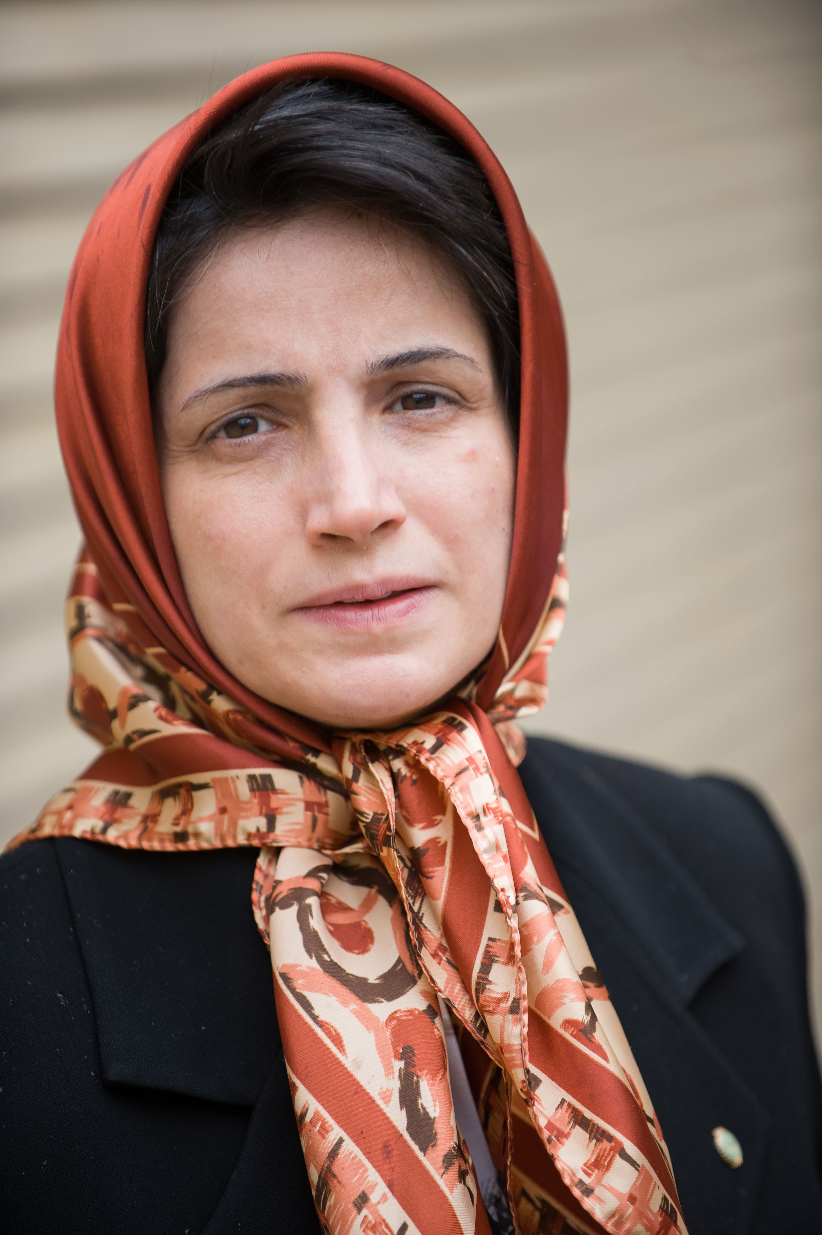 Iranian lawyer Nasrin Sotoudeh is seen in Tehran on November 1, 2008. Sotoudeh was sentenced to 11 years in prison for defending opposition members after the disputed re-election of President Mahmoud Ahmadinejad in 2009. A dozen lawyers defending human rights cases and opposition members are currently imprisoned in Iran, according to Amnesty International, which describes them as prisoners of conscience. AFP PHOTO/ARASH ASHOURINIA === IRAN OUT ===