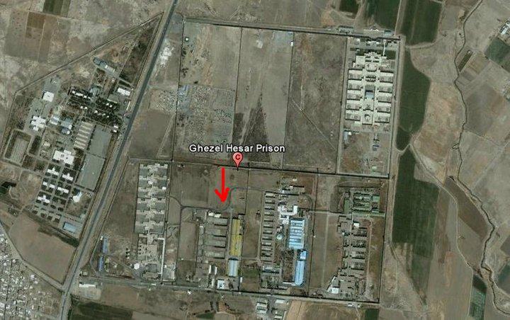 تصویر هوایی زندان قزل حصار
